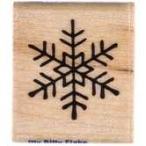 Itty Bitty Flake Rubber Stamp